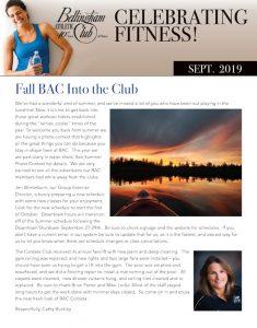 BAC September 2019 Newsletter