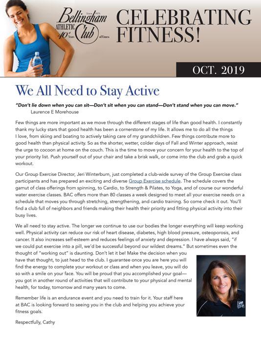 BAC October 2019 Newsletter