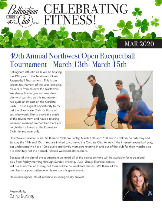 Bellingham Athletic Club Newsletter March 2020