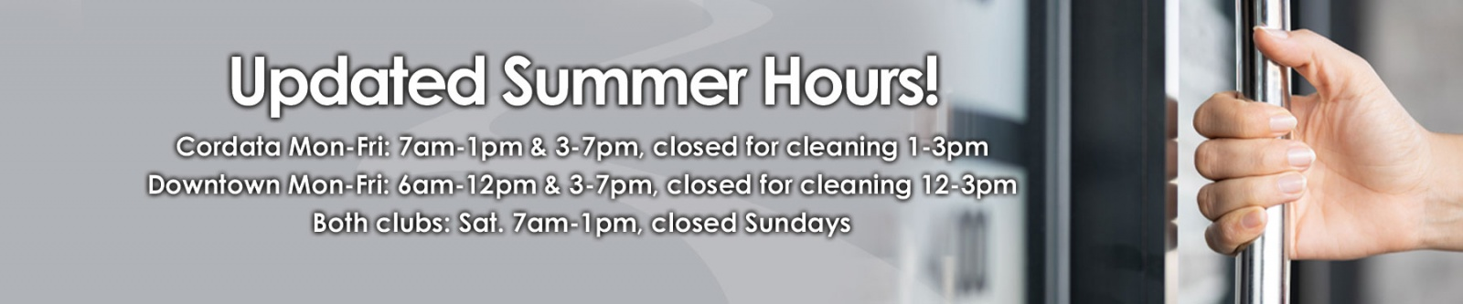 Bellingham Athletic Club Summer Hours